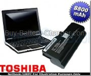 TOSHIBA  4800 mAh 11.1 V Netbook NB100-12S Laptop Battery, Batteries